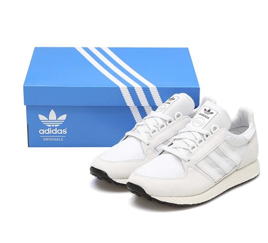 Adidas Originals Men's Wouomo Forest Grove scarpe da ginnastica AQ1186 bianca Sz4-13