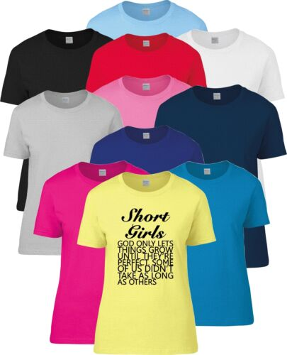Short Girls Ladies Funny  T Shirt