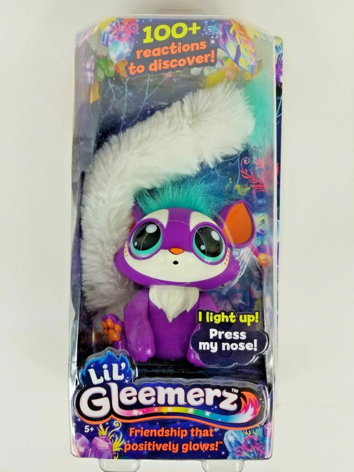 Lil Gleemerz Loomur Purple Doll Light Up Tail 100 Reactions Friendship Glows New
