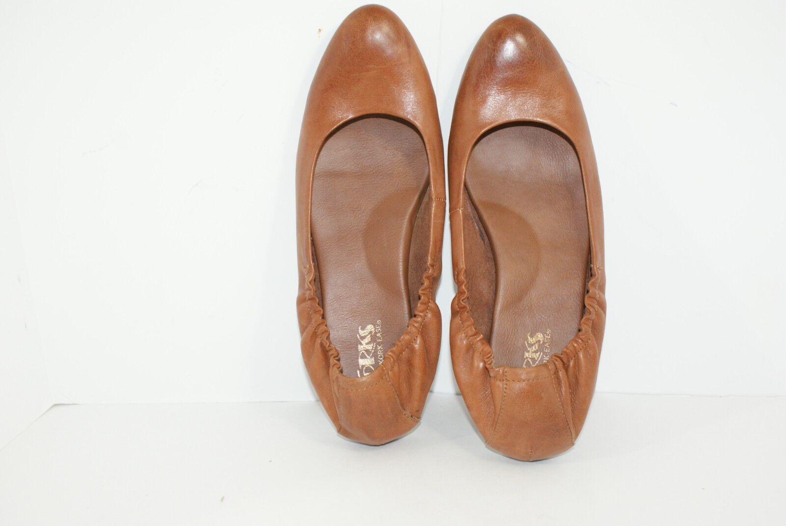 Korks by Kork Ease Julie Women's 10 M Coffee Brown Leather Slip On Ballet Flats
