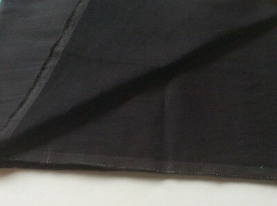 Black Cotton STRETCH  Velveteen for dressmaking FQ 120 cms HM Met 240g