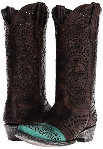 NEW IN BOX OLD GRINGO STRECHER BRASS/TURQUOISE WOMENS WESTERN BOOT SZ 9.5  $ 500