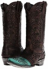 NEW IN BOX OLD GRINGO STRECHER BRASS/TURQUOISE WOMENS WESTERN BOOT SZ 8  $ 500