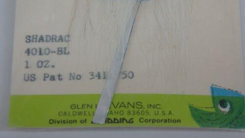 environ 28.35 g Vintage Glen Evans Shadrac pêche leurre PLOMB JIG 1 oz bleu /& blanc perle