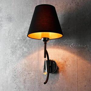 Applique-murale-en-noire-incl-6W-LED-Cristal-Lampe-Murale-Mur-Moderne-Verre