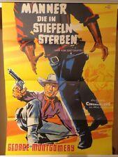 MÄNNER DIE IN STIEFELN STERBEN | Originalplakat 1959 B-Western George Montgomery