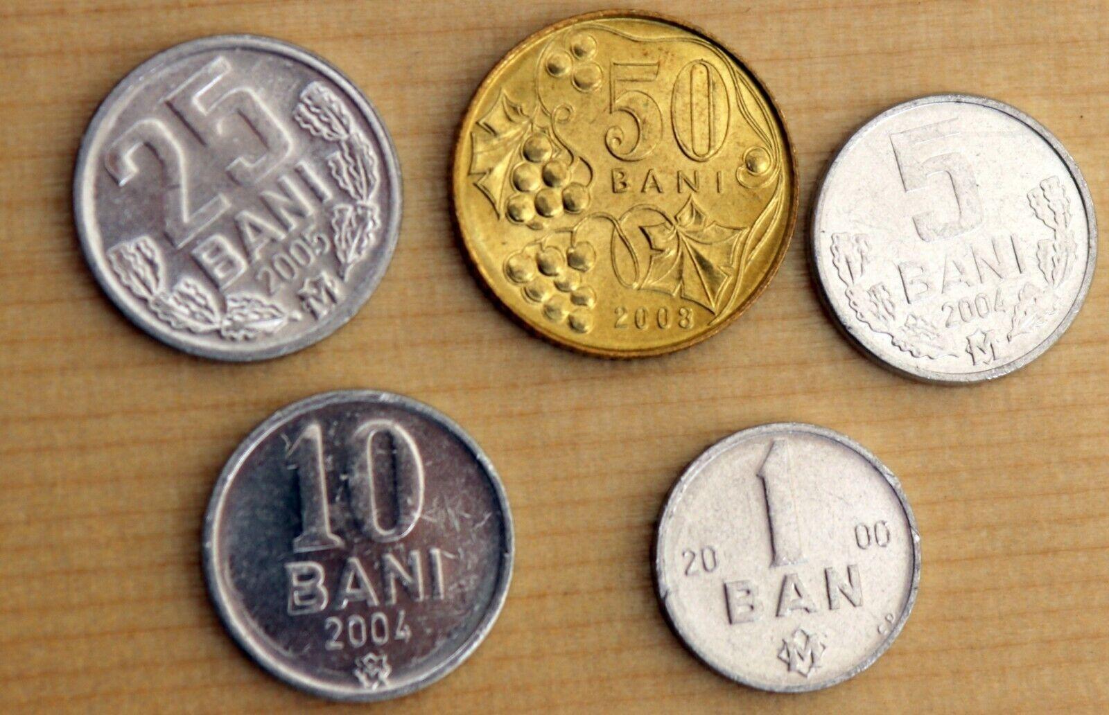 R* MOLDOVA 4 COIN LOT 5-50 BANI 2008-2018 UNC DETAILS #O491