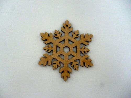Wooden Christmas Snowflake Baubles Mdf Xmas craft blank tag Decoration  CFE183