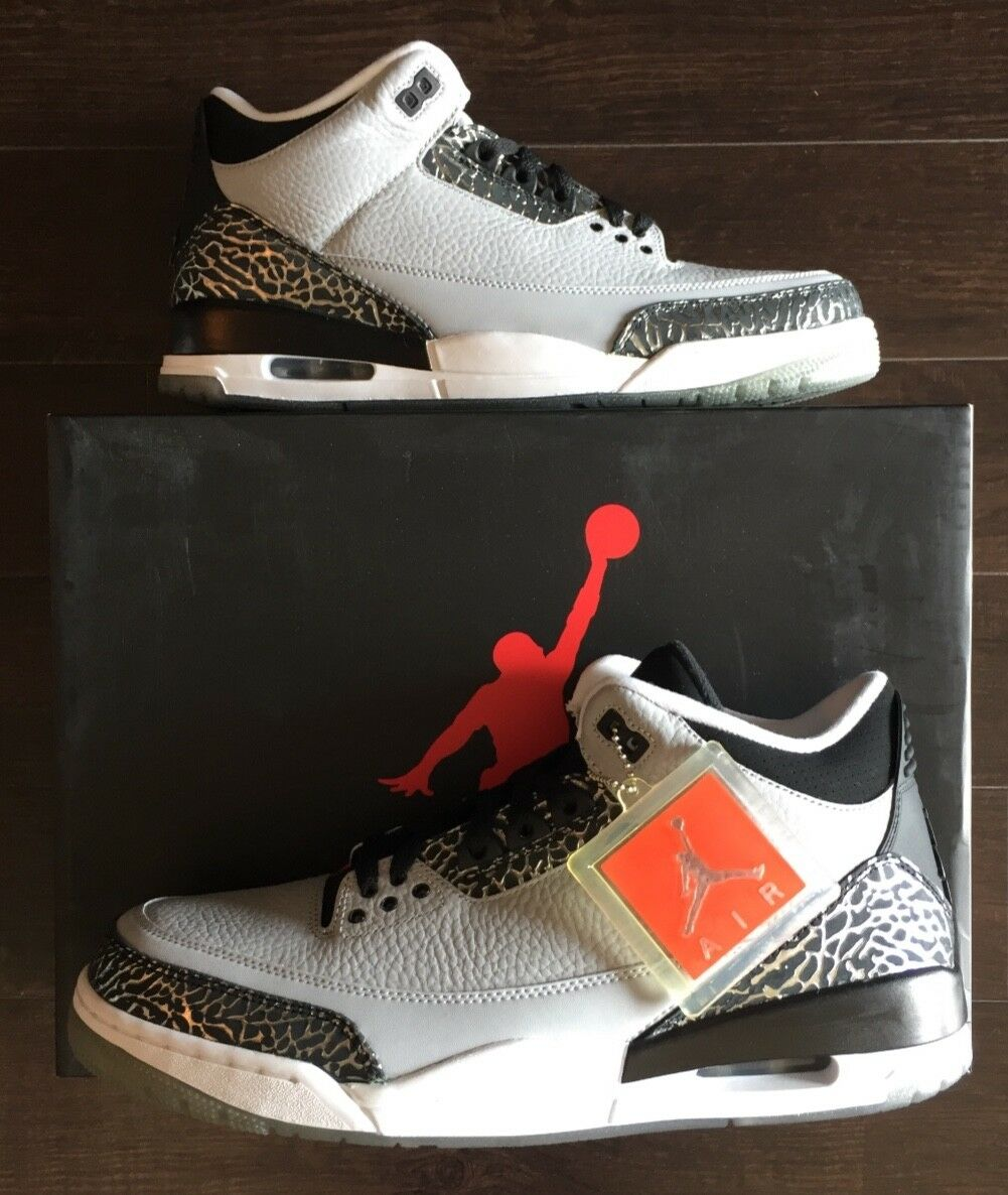 Air Jordan 3 Retro Wolf Grey Size 11.5 - Never Worn