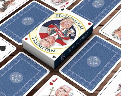 PRESIDENT TRUMP SELF-DEALING PLAYING CARDS Limited Edition MAGA 2020 Collectable