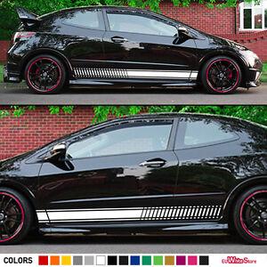 Decal Sticker Side Stripes Kit For HONDA Civic Type R FN Flare - Honda civic decal stickers