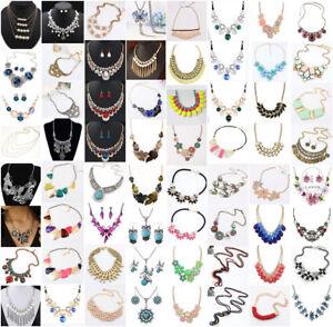 Fashion-Chunky-Statement-Chain-Bib-Necklace-Jewelry-Women-Pendant-Choker