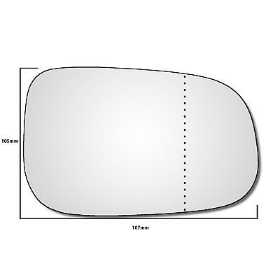 VOLVO V50  2007-2009  WING MIRROR GLASS HEATED BLIND SPOT RIGHT