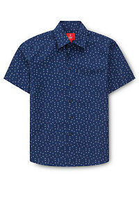 NEW-Fred-Bracks-Print-Shirt-Blue