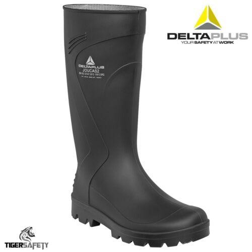 Delta Plus Joucas Schwarz PVC Wasserdicht Outdoor Gummistiefel Regenstiefel