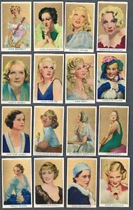 1939-Rothmans-Beauties-of-The-Cinema-Tobacco-Cards-Complete-Set-of-40