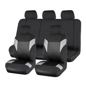Universal-11PCS-Black-Grey-Car-Seat-Covers-Polyester-for-TRUCK-SUV-Sedan-Van