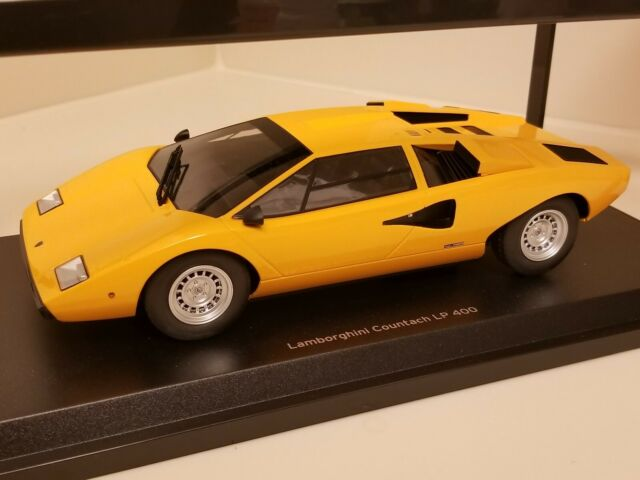 Kyosho Ousia 1 18 Lamborghini Countach Lp400 Yellow Diecast Model