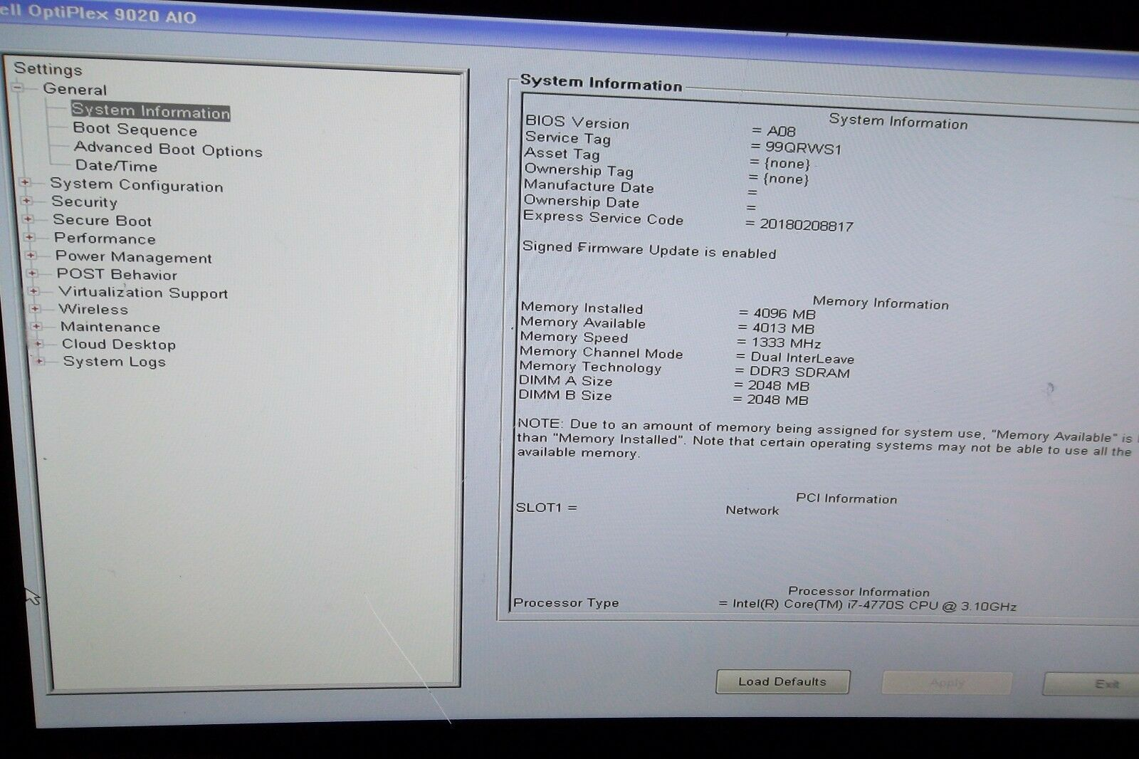 Dell Optiplex 9020 All in One Internal Left / Right Speakers With Cable  10DX1