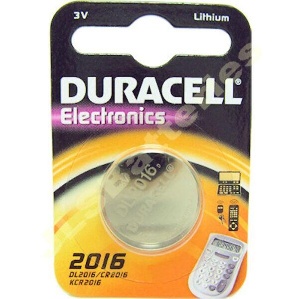 1 X Dl2016 Duracell Lithium Coin Battery 3v Cr2016 2016 Ecr2016 Grade Producten Volgens Kwaliteit