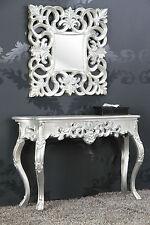 SPECCHIO + console come Set Argento Antico Lussuoso fasto pieno Barocco Rokoko 85 cm