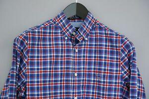 taglia 40 d0edc 54c2f Dettagli su Uomo Gant Camicia Casual Matchpoint Popeline Blu a Scacchi  Cotone S MDA803