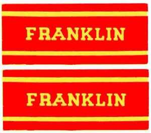 FRANKLIN-OLD-TIME-STEAM-ENGINE-CAB-STICKER-American-Flyer-S-Gauge-Trains