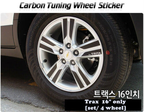 """16/"""" only 2013 ~ on Carbon Tuning Wheel Mask Sticker For Chevrolet  Trax"""