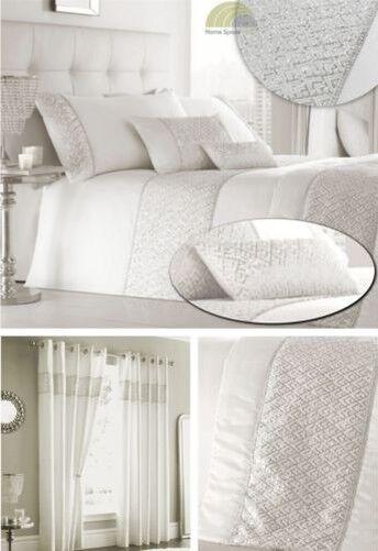 Pailletten Besetzt Gebrochen Weiß Bettwäsche Bett Set Kissen oder oder Läufer