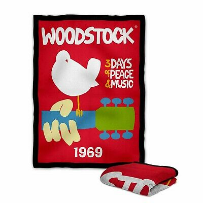 Woodstock 1969 Classic Logo Blanket KIDS // MEDIUM // LARGE