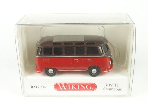 VW t1 sambabus marrón//rojo 1:87