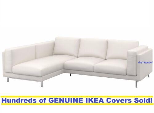 IKEA nockeby Causeuse avec chaise Gauche Couverture Housse risane blanc neuf en boîte!