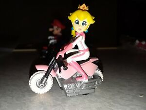 Details About Mario Kart Tomy 1 5 Inch Princess Peach Pull Back Bike