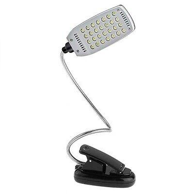 Lampe 28 LED à Pince avec Bras Flexible pour Bureau Lecture Livre