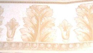 Graham Brown Prepasted Wallpaper Border Feather Sconce Beige