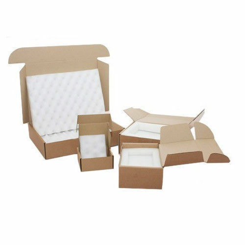460 x 305 x 85mm //Tablets /& Ipads 50 x Laptop White Foam Lined Cardboard Boxes