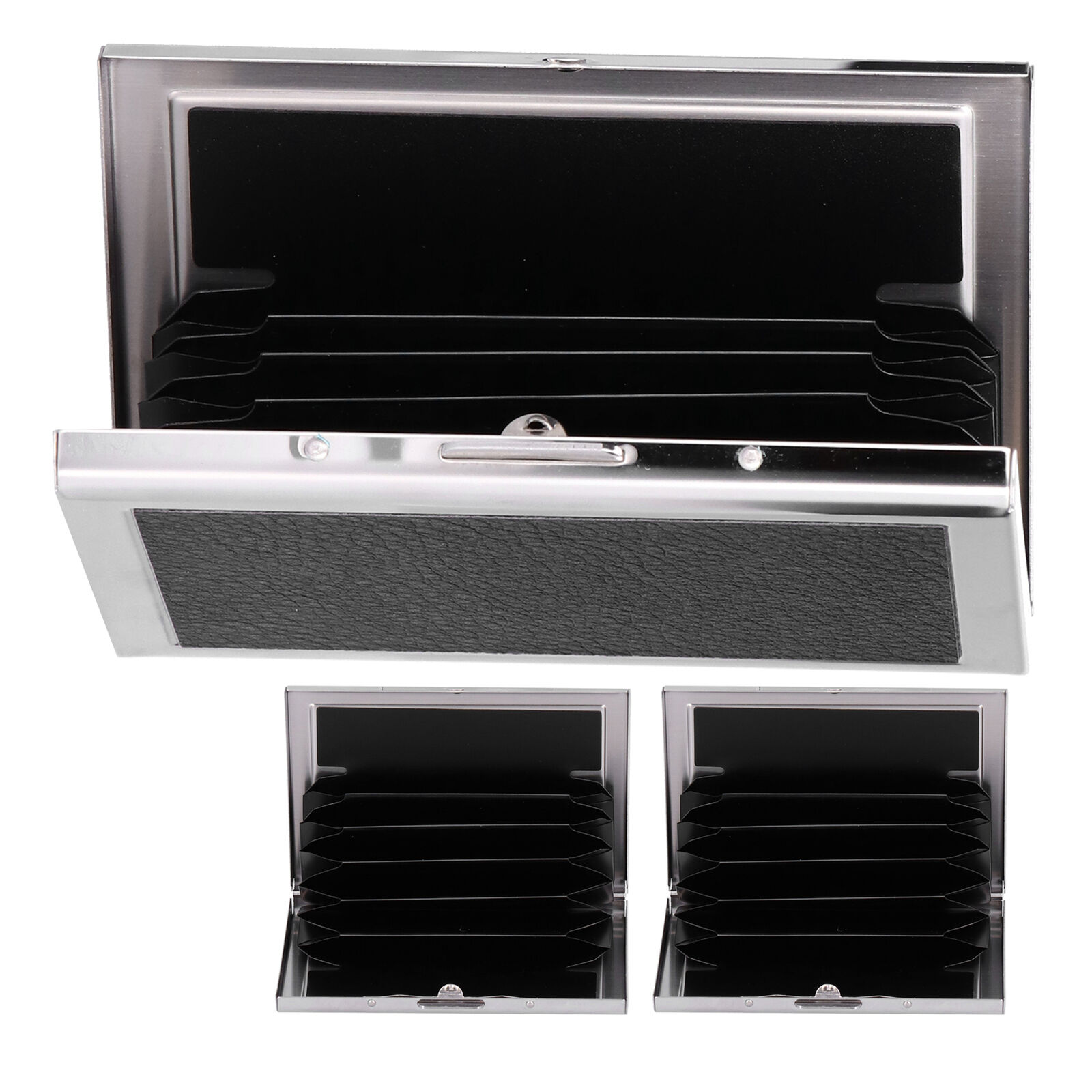 Card Case 6 Card Slots Antimagnetic Stainless Steel Concealed Button Design P UK