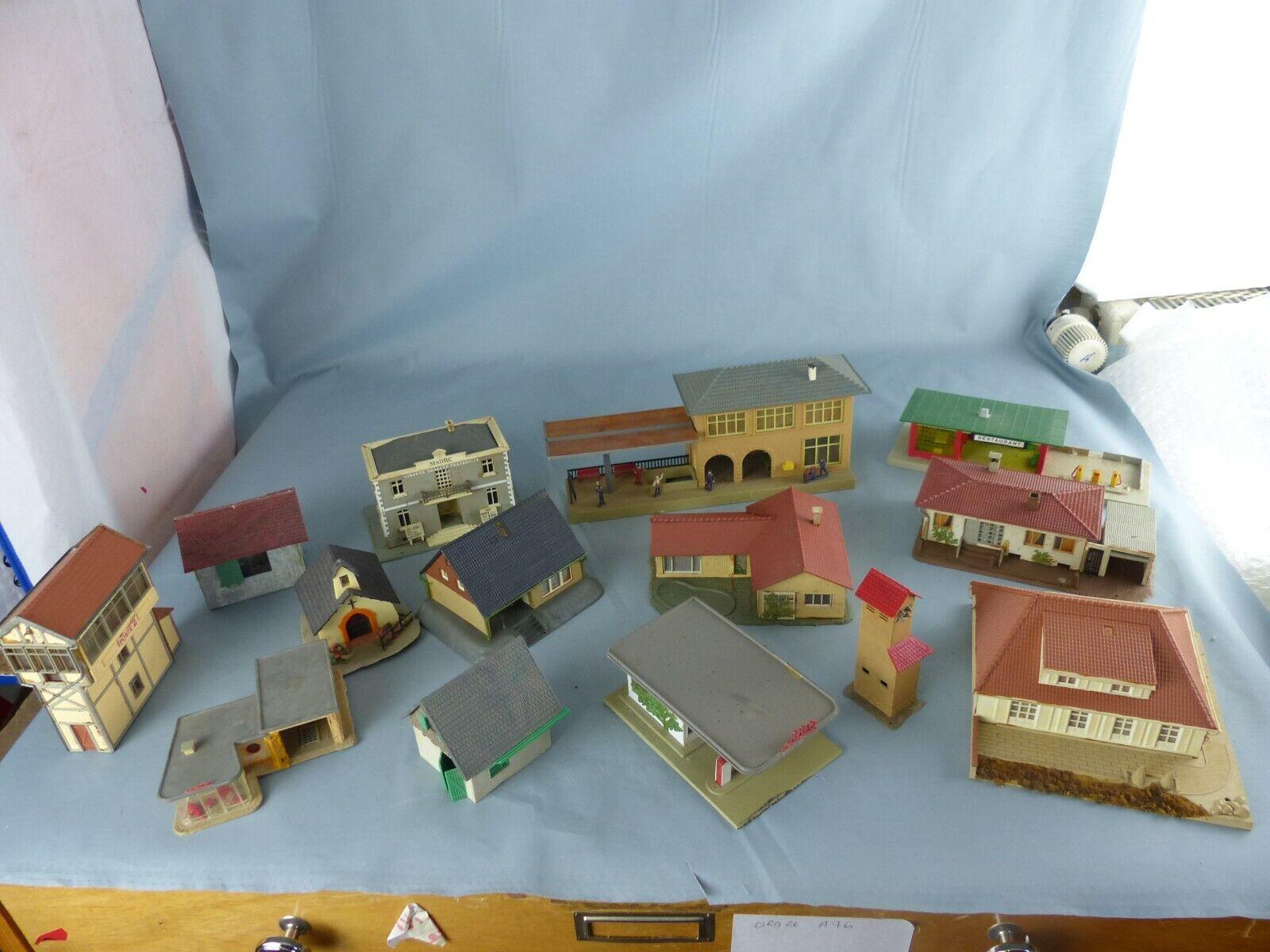JOUEF FtuttiER lot de 14 maquettes Ho maisons station essence gare décors train