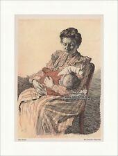 Die Mutter Jugendstil von Max Bernuth Elberfeld Baby Stillen Stuhl Jugend 1266