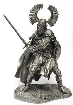 Germany Knight of the Teutonic Order 14th Century 132 Scale Height 65mm Unpainted Tin Figure Middle Ages Handmade Collectible Toy Miniature