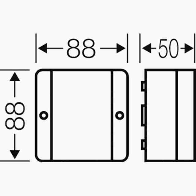 Hensel Klemmenkasten 2,5qmm Kunststoff 88x88x50mm Aufputz 7.. DP9020