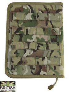 Army-Military-A5-Molle-Zipped-Notebook-Notepad-Holder-Binder-Folder-Map-BTP-Camo