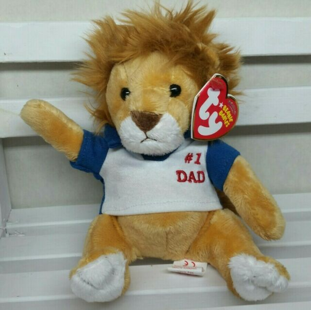 Ty Beanie Baby - MY DAD the Father's Day Lion (7 Inch) New w/Tag Protector