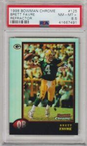 1998 Bowman Chrome Brett Favre #125 Refractor PSA 8.5 NM+ *Pop 1* Packers