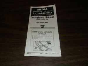 Details about APRIL 1964 PRR PENNSYLVANIA FORM 37 PHILADELPHIA-MEDIA, PA  PUBLIC TIMETABLE