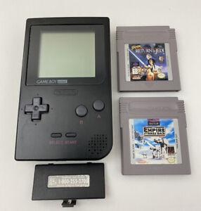 Nintendo-Game-Boy-Pocket-MGB-001-Star-Wars-Games-TESTED-See-Photos-Description