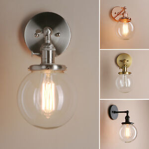 PATHSON-GLOBE-CLEAR-GLASS-RETRO-INDUSTRIAL-WALL-LAMP-SCONCE-UP-DOWN-WALL-LIGHT