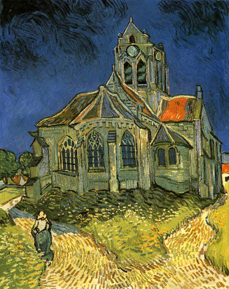 THE CHURCH AT AUVERS 1890 IMPRESSIONISM PAINTING BY VINCENT VAN GOGH REPRO
