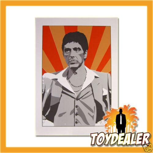 Scarface Tony Montana Al Pacino 64x45 cm Pop Art Kunst Druck Bild