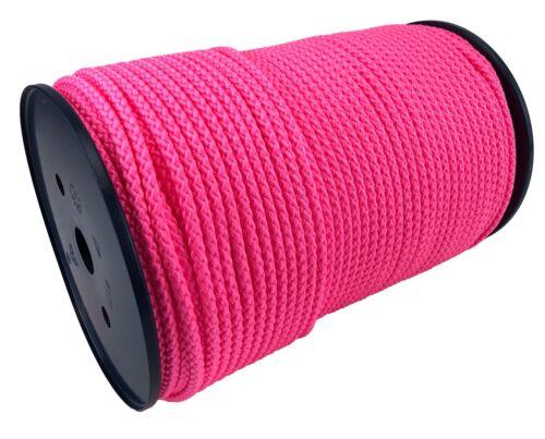 Paracord Drawstring Camping 6mm Pink Braided Polypropylene Rope x 15 Metres
